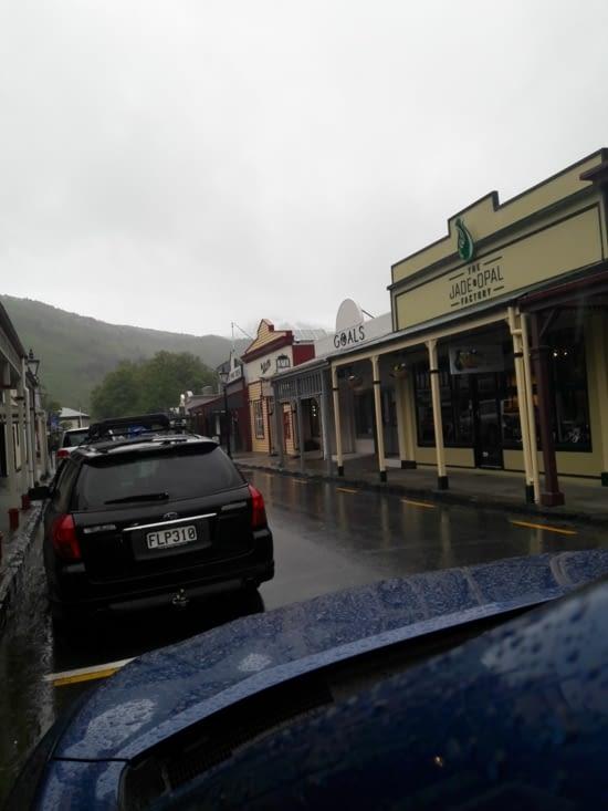 Arrowtown sous la pluie