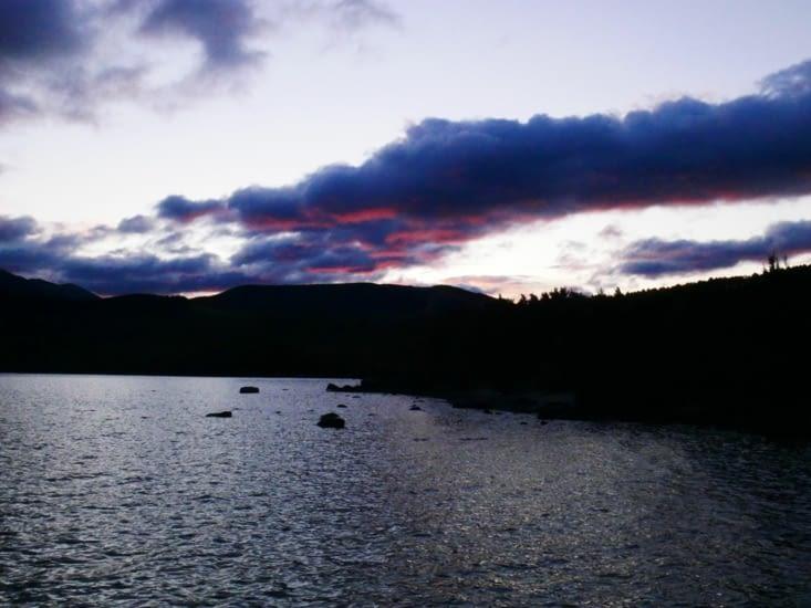 Pour faire un coucher de soleil dans le parc de Nelson lakes