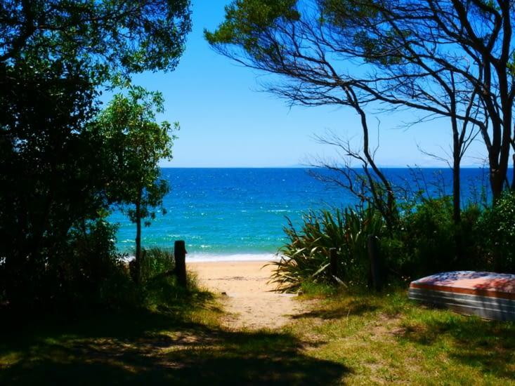 Entrée de plage