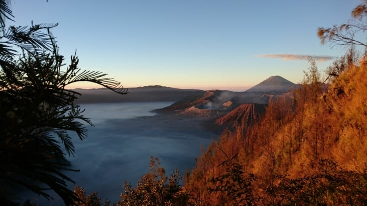 Levé de soleil sur le Bromo / Sunrise on the Bromo