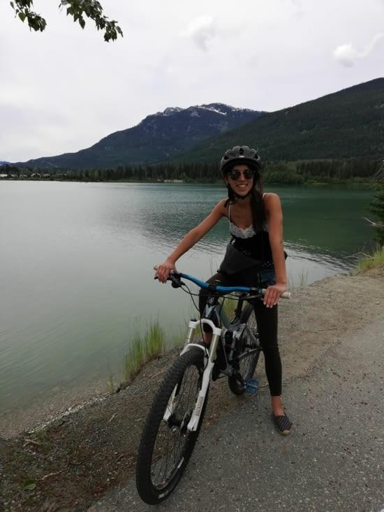 Je suis en train de me réconcilier avec le vélo ahah