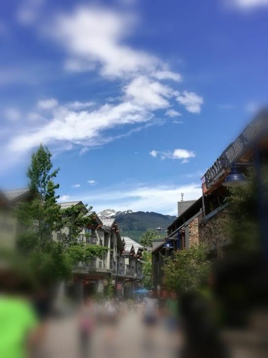 Le centre ville de Whistler