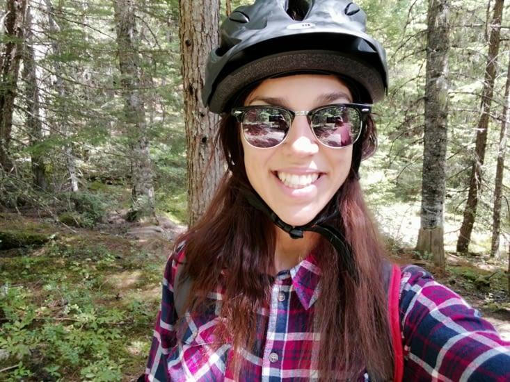 Vélo en forêt
