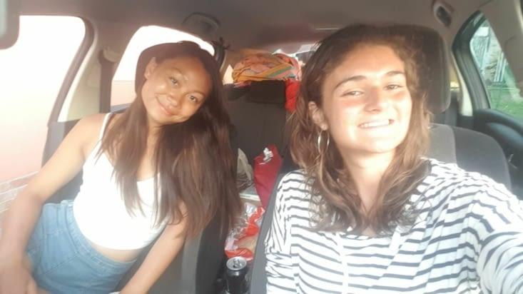 Dans la voiture...