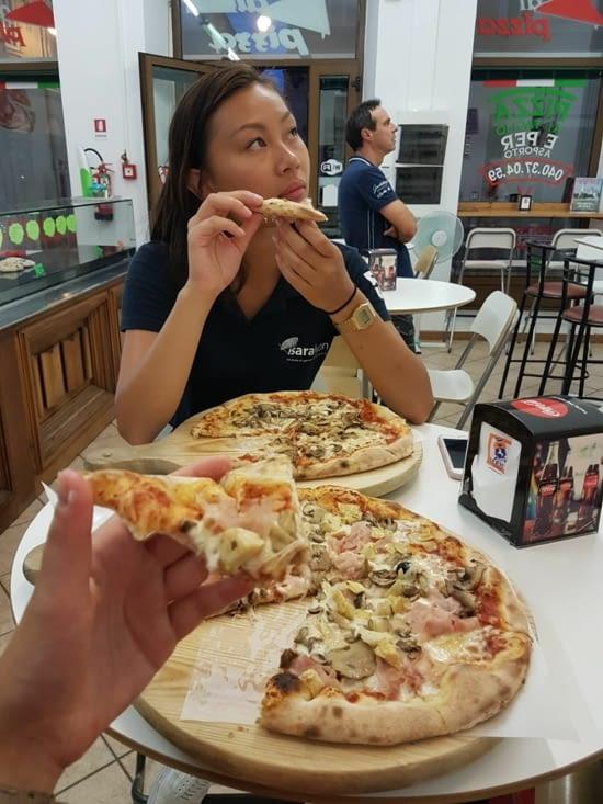 Petite pizza pour se remettre du weekend...