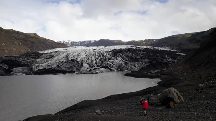 Glacier Solheimajokull vue du sentier