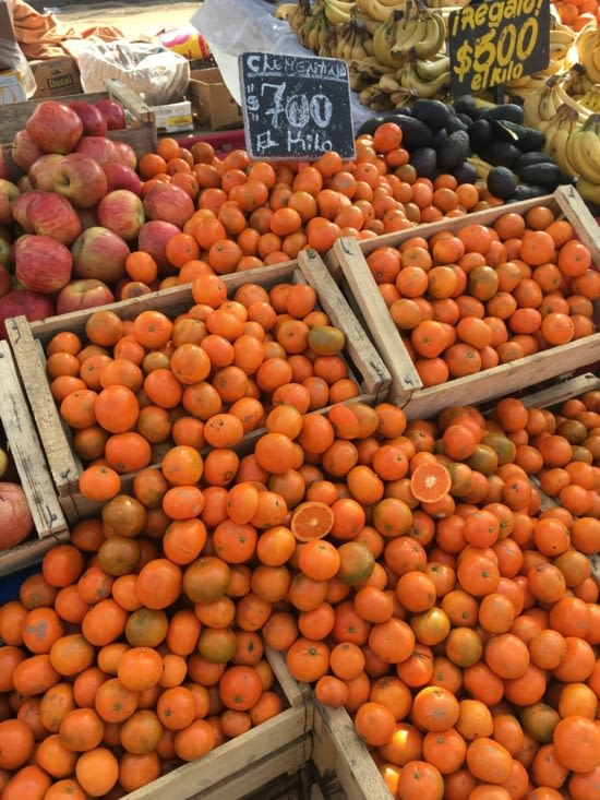 Marché de Vina Del Mar : 0,93€ le kilo d'orange !