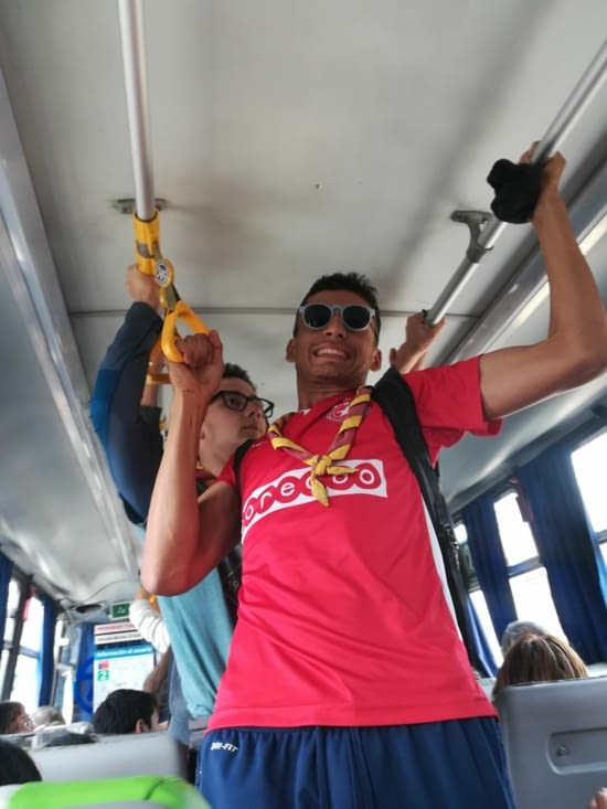 La preuve de la conduite sportive des bus.