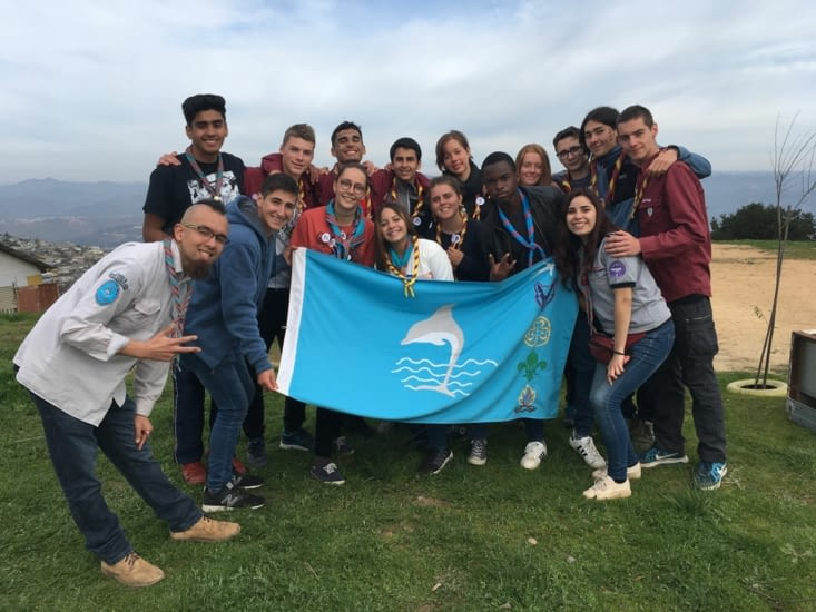 Le groupe de scouts chiliens
