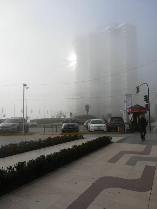 Le brouillard...