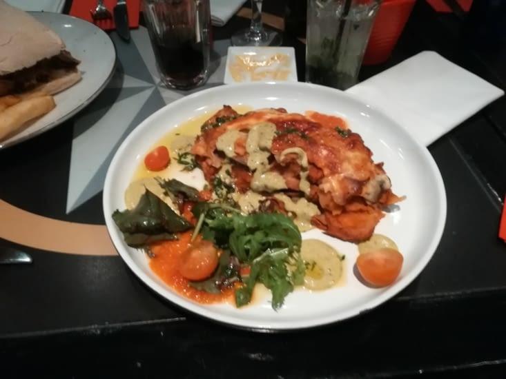 Un plat au restaurant