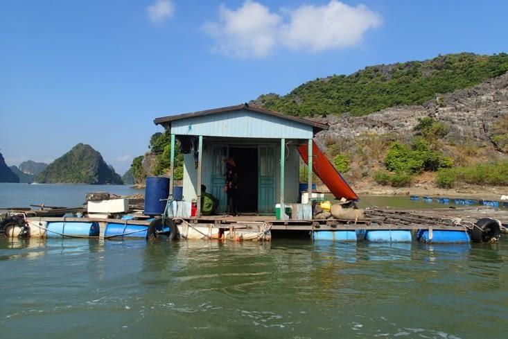 Voici la petite cabane flottante de notre capitaine du jour.