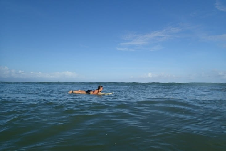 Faut dire qu'une eau à 28°C et de belles petites vagues, ça ne se refusent pas !