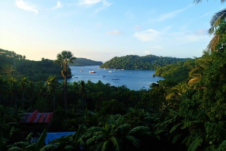 C'est déjà la fin ... Quoi de mieux, qu'un beau coucher de soleil sur la baie ?.