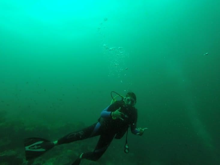 La plongée !!! Ça faisait un petit moment donc c'était cool !