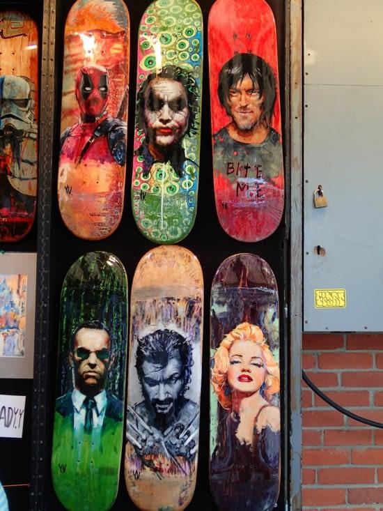 La rue des artistes est cool ! Un peu le même genre que la Place du Tertre à Montmartre.