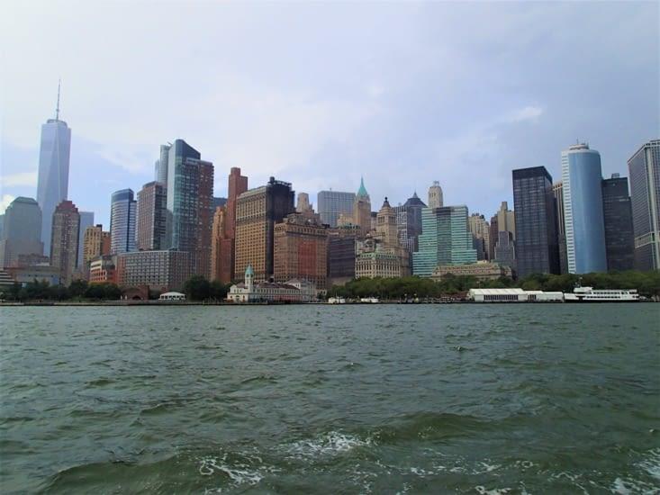 Deuxième jour : départ en bateau pour aller voir la Statue de la Liberté.