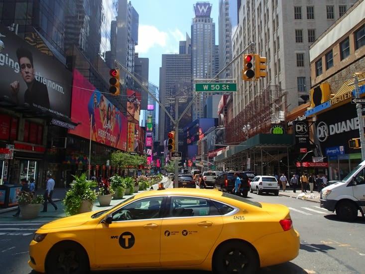 Arrivés dans New York, première impression, tout est immense !