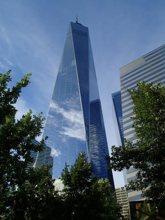 La One World Trade Center qui a été construite à la suite des attentats du 11 septembre.