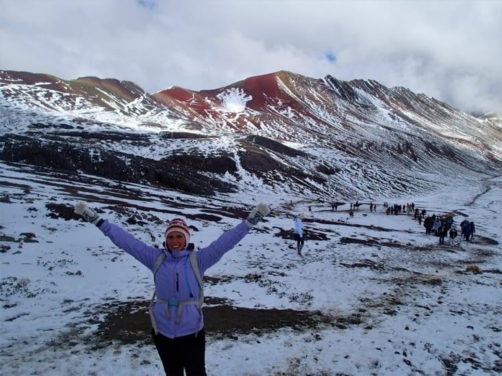 Malgré la neige qui ne montre pas toutes les couleurs, c'est vraiment sublime !