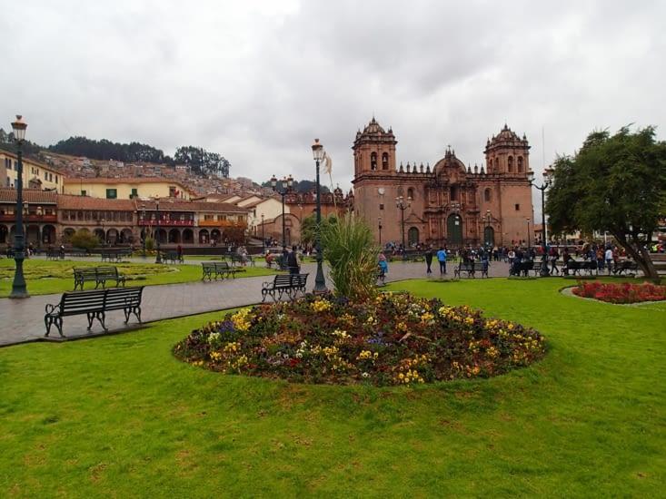 Plaza de Armas. C'est la place principale du centre historique.
