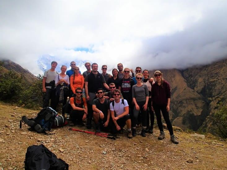 Début du trek, on vous présente notre groupe d'aventuriers de toutes nationalités.