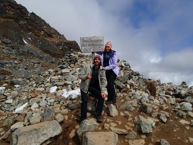 Contents d'être arrivés au sommet après 4h d'efforts :-D
