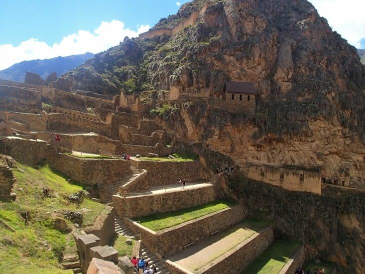 Ollantaytambo. Vestige d'une immense forteresse inca.