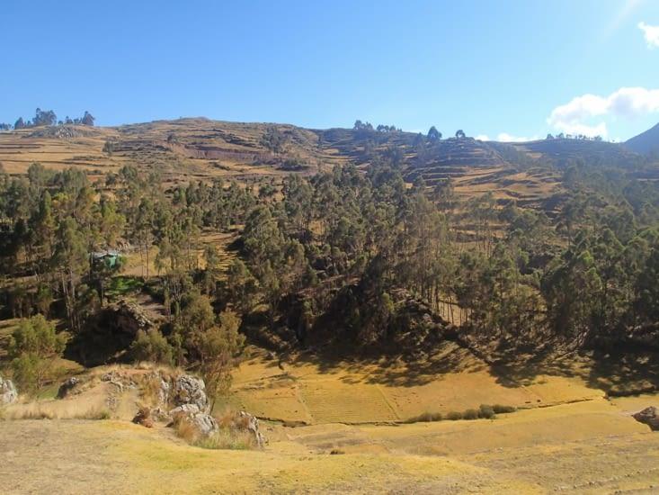 1er site : Chinchero. Célèbre pour ses terrasses incas et son église coloniale.