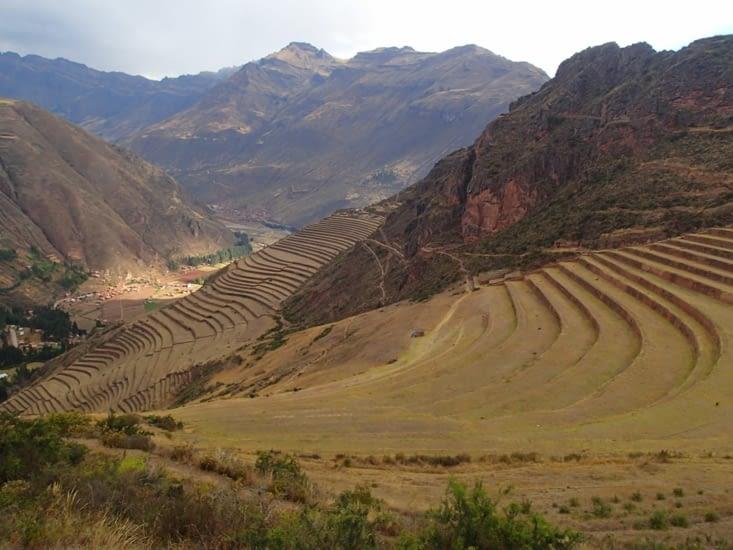 Les fameuses terrasses agricoles. Toujours utilisées de nos jours.