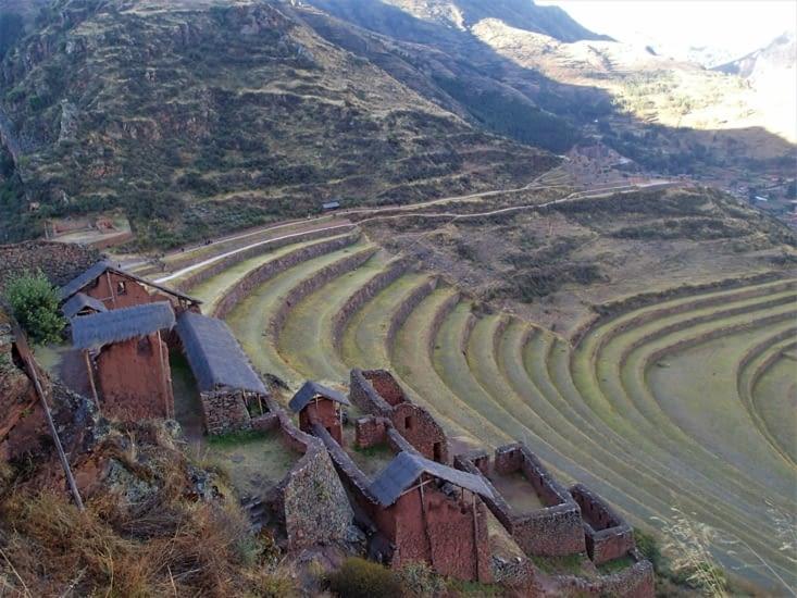 Dernier site de la visite : Pisac. L'un des plus grands sites de la Vallée Sacré des Incas