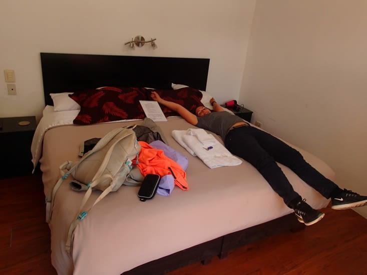 Après ces derniers jours intenses, on s'est fait plaisir sur l'hôtel. Enfin du confort !