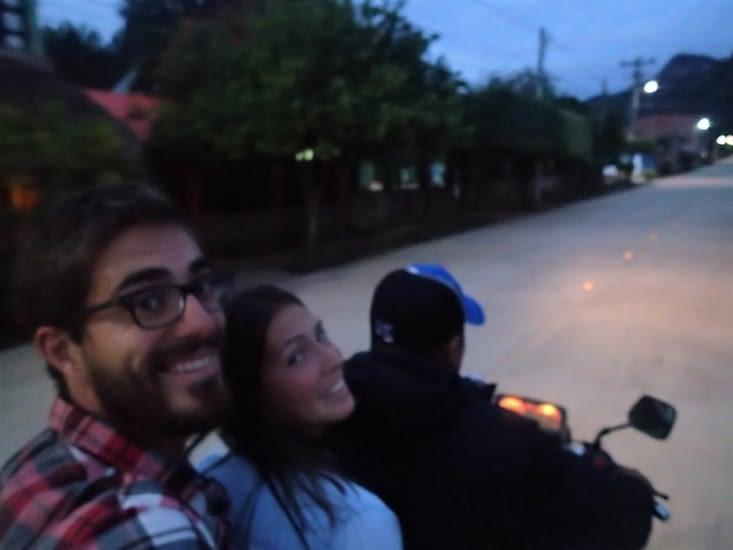 Nous voilà donc partis à 3 sur la moto pour aller rencontrer cette fameuse mamita !