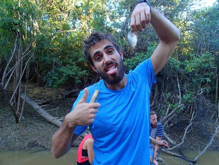 Mon robinson a réussi à en pêcher un !