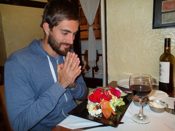 Guillaume et sa tant attendue salade de chèvre chaud ?