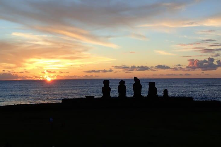 Un deuxième coucher de soleil pour clôturer la journée. C'est tellement beau.