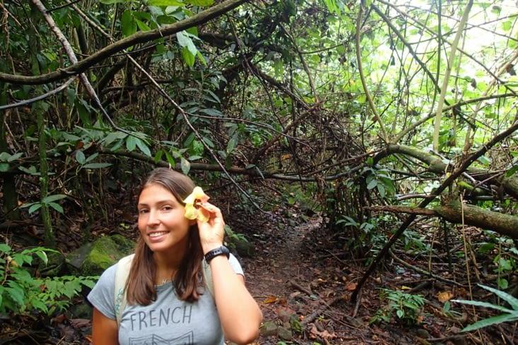 C'est parti pour une petite randonnée jungle vers une autre cascade !