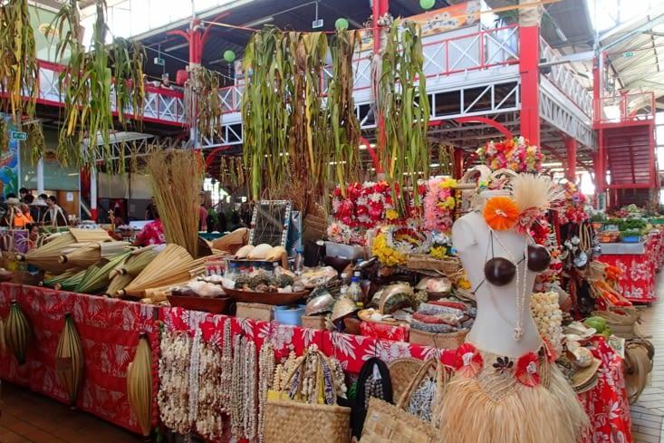 Le fameux marché de Papeete ouvert 7 jours sur 7.