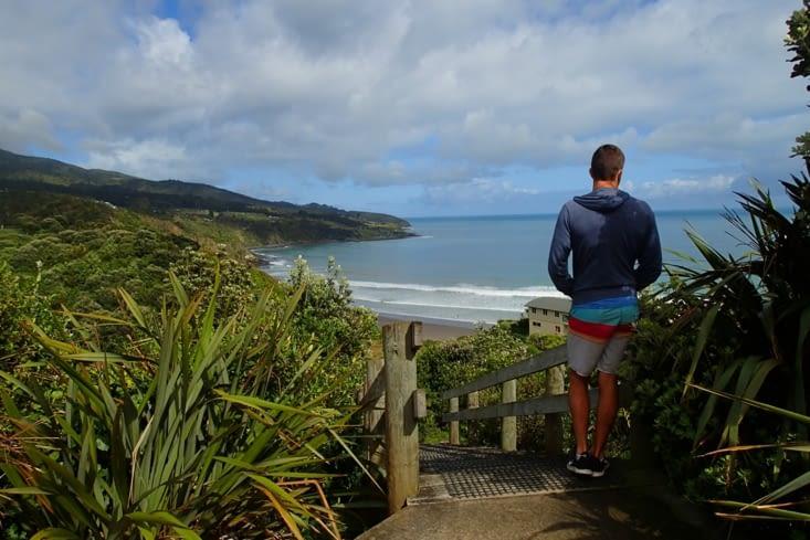 Direction Raglan, un spot de surf connu dans la région mais toujours rien...