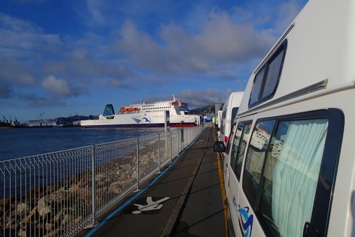 Derniers mètres sur l'île du nord avant de prendre le ferry pour l'ile du sud.