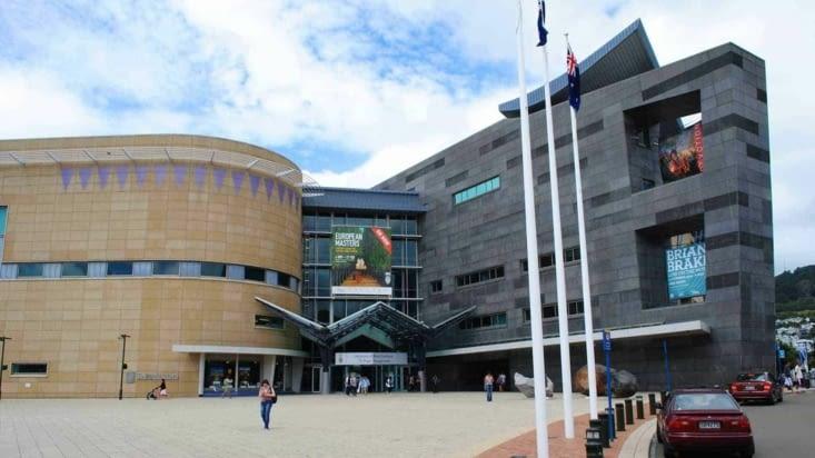 """Le musée """"Te Papa"""". Musée national de la Nouvelle-Zélande."""