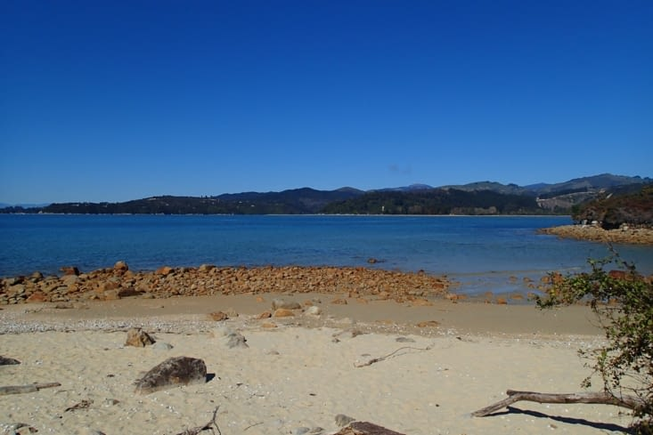 Nous voilà dans le parc national d'Abel Tasman.