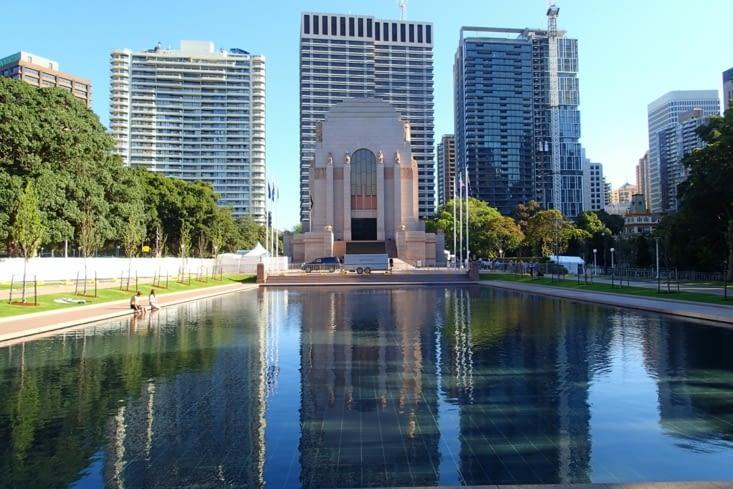 Mémorial de l'Anzac. Les Australiens aussi ont été envoyés à la 1ère guerre mondiale.