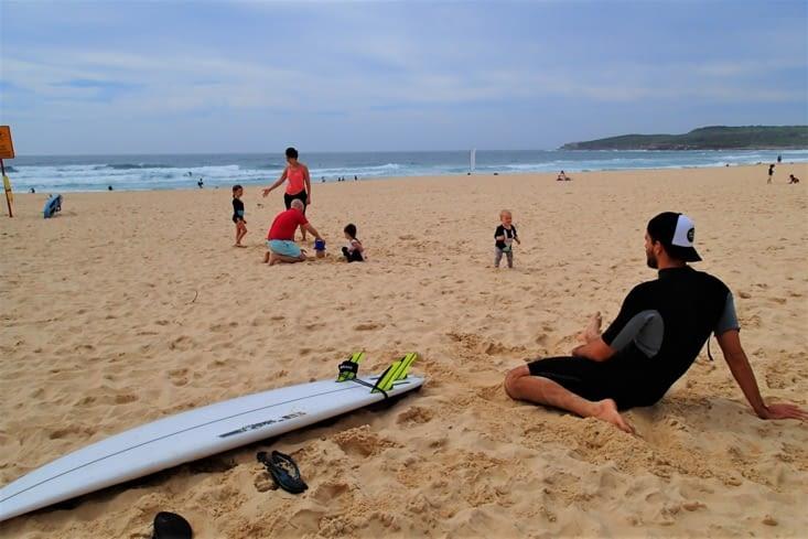 Dernier jour, cession surf pour Guillaume. Impatient d'en découdre !