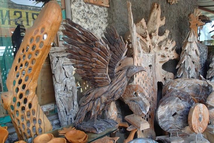 Du bois sculpté, super original et c'est tellement balaise !