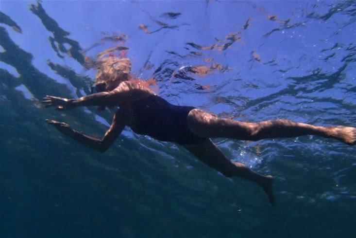 Même pour Michèle qui ne s'arrête plus de mettre la tête sous l'eau maintenant !