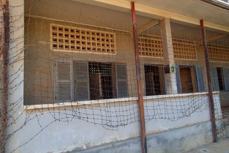 Ancien lycée transformé en camp de torture pendant l'époque des Khmers rouges, il y 40 ans