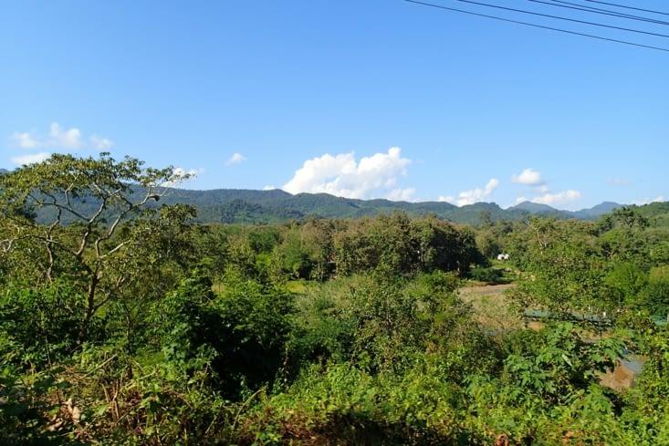 On reprend la route direction les cascades de Kuang Si. Tout en profitant des paysages.