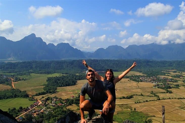 Après l'expédition sous terre, on prend de la hauteur au Pha Ngeum !