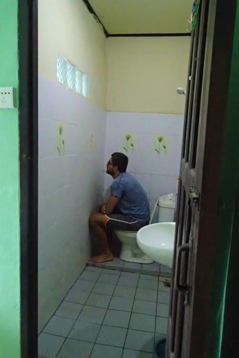 Par contre la vue depuis les toilettes est beaucoup moins sympa ?